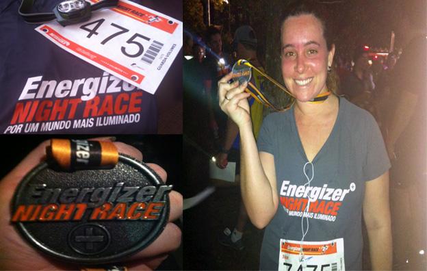 Kit da corrida / Medalha / Eu após a corrida bem vermelha haahah