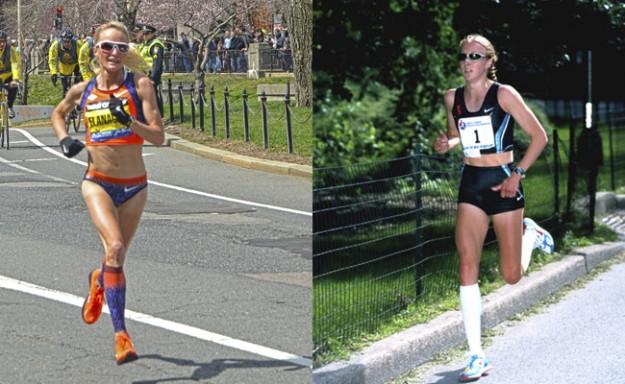 Shalane Flanagan e Paula Radcliffe