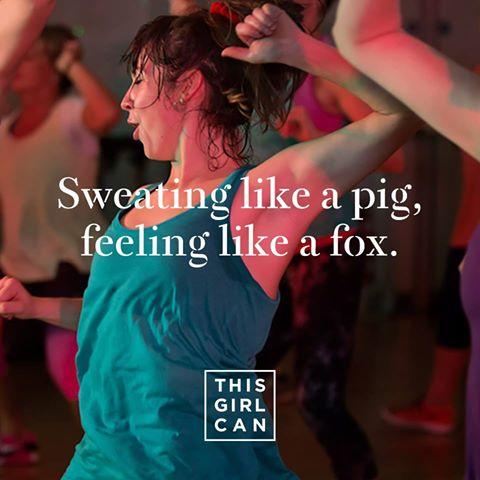 Sweating like a pig, feeling like a fox.