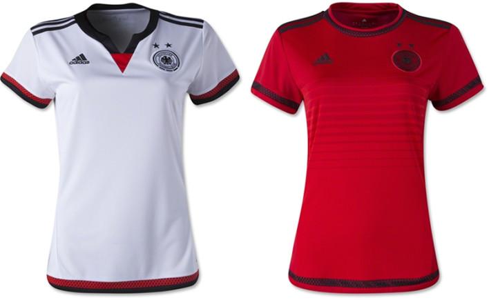 Camisas oficiais da seleção da Alemanha na Copa do Mundo Feminina (Adidas)