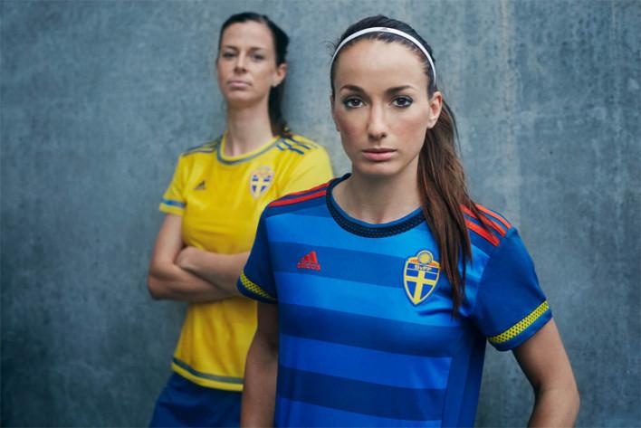 Camisas oficia da seleção da Suécia para a FIFA WWC 2015 (Adidas)