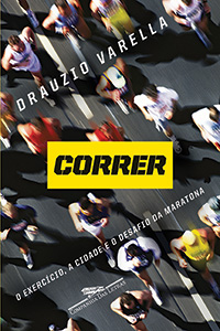 "Capa do livro ""Correr - O exercício, a cidade e o desafio da maratona"", de Drauzio Varella."