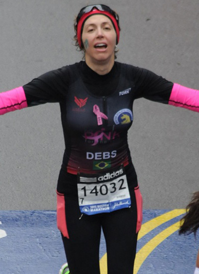 Debs na Maratona de Boston 2015 (Arquivo pessoal)