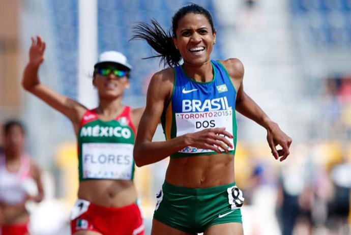 Juliana dos Santos nos 5000 metros - Pan 2015