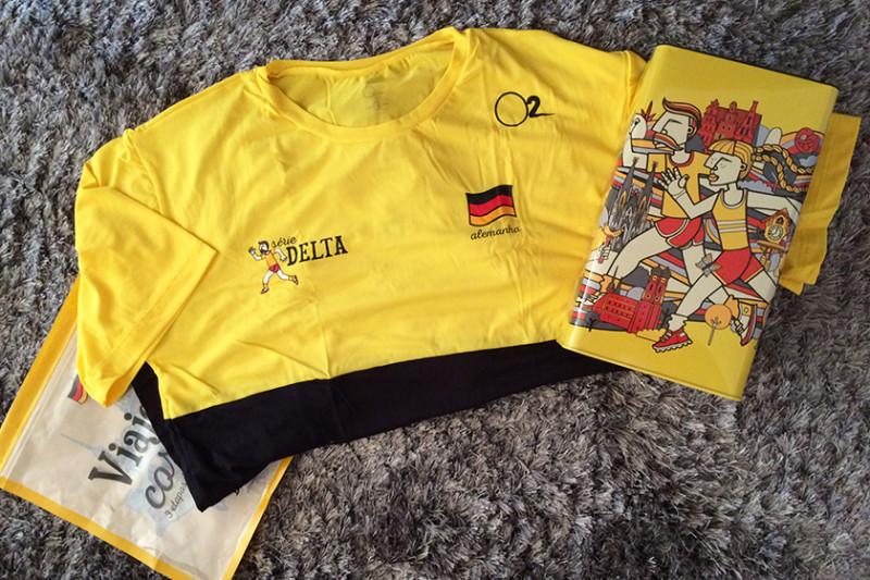 Saquinho, camiseta e lata da Etapa Alemanha.