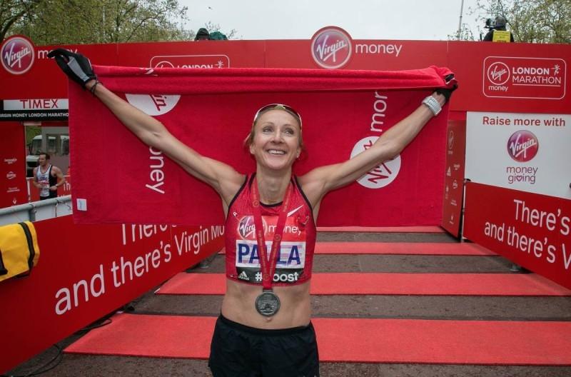 Paula Radcliffe na Maratona de Londres 2015