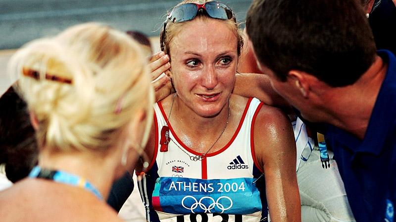 Paula Radcliffe nas Olimpiadas de Atenas em 2004