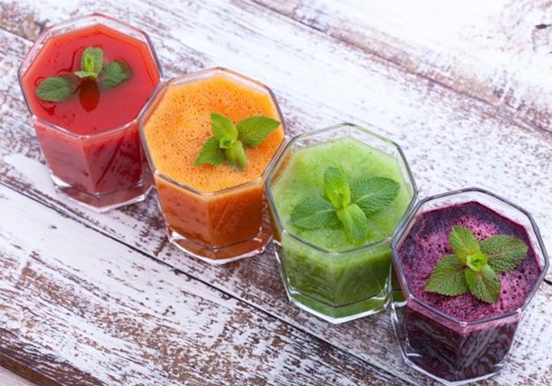 Sucos antioxidantes e coloridos