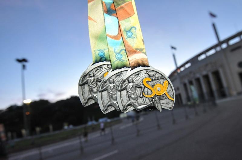 Medalhas do Circuito do Sol 2016 - São Paulo. Foto: Adam Tavares/Divulgação O2