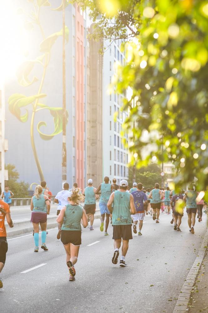Adoro correr no Minhocão, acho a cara de São Paulo! Foto: Adam Tavares/Divulgação O2