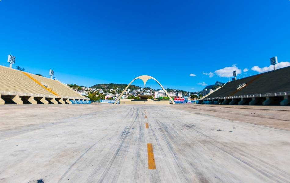 A chegada da maratona será dentro do Sambódromo (Foto: Rio 2016/Alex Ferro)