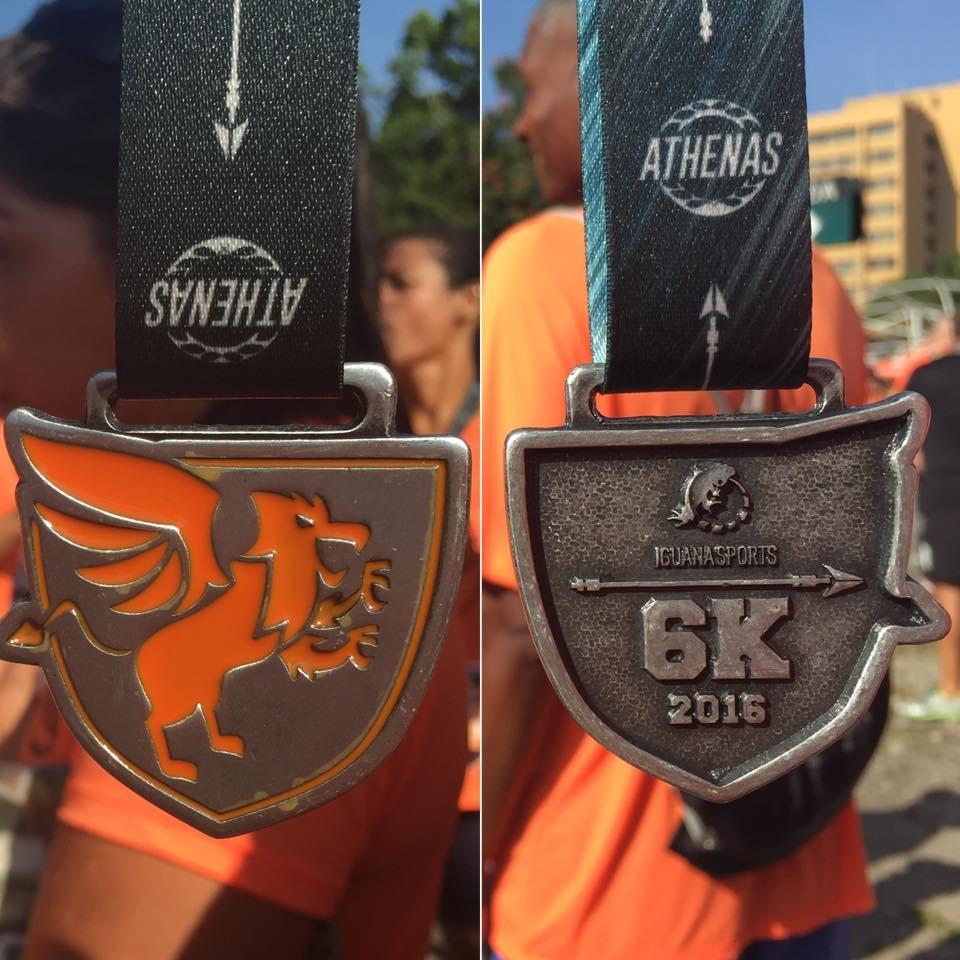 A medalha para quem completou os 6k