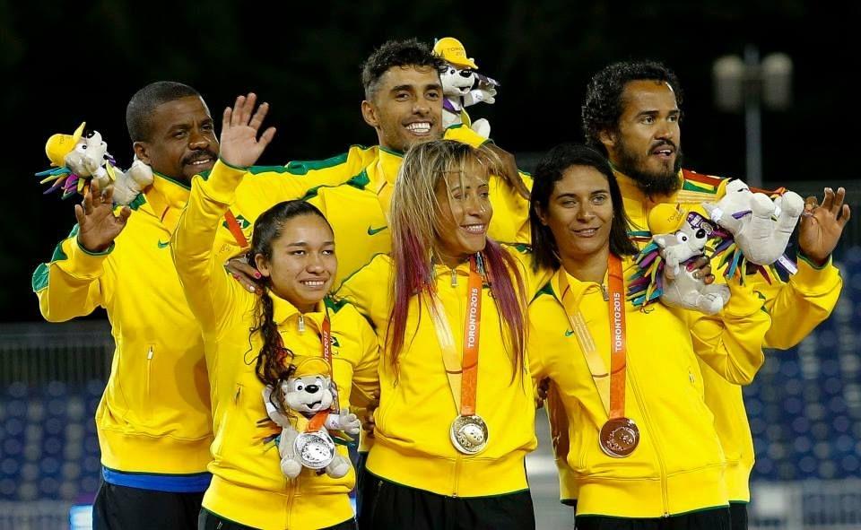 Atletas brasileiros nos Jogos Parapan-Americanos 2015, em Toronto, Canadá.