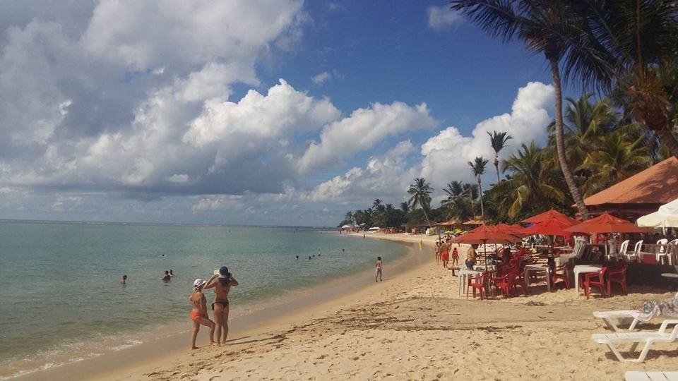 A praia de Coroa Vermelha, em Santa Cruz Cabrália (Foto da Ju)