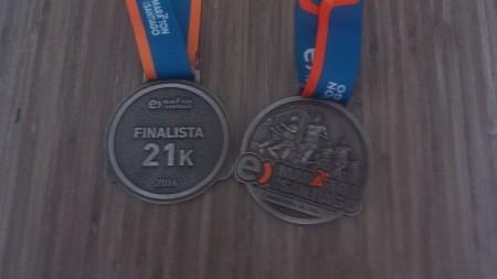 Medalha da Meia Maratona – Linda!!!!