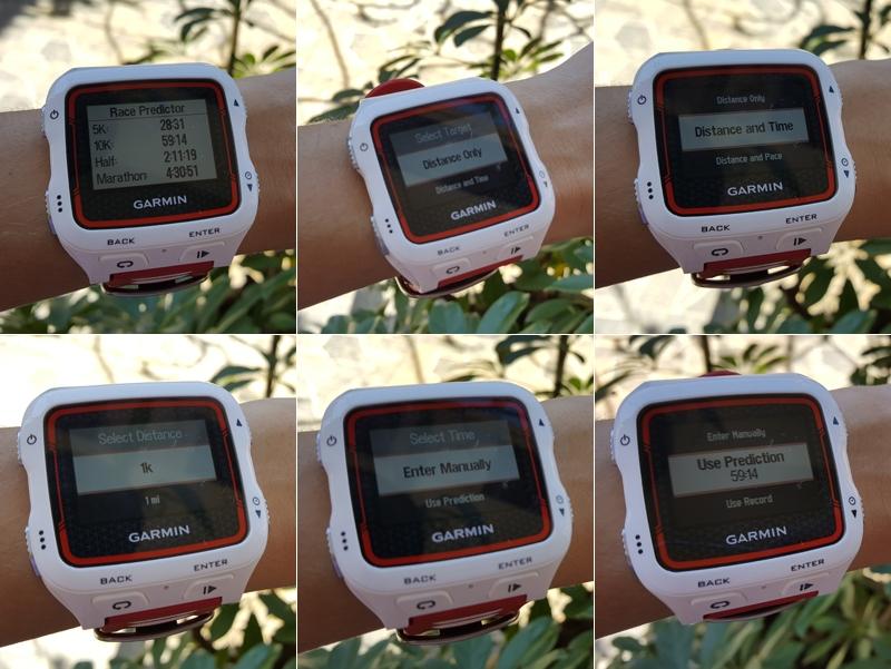 Previsão de RPs e configuração de treino com base em tempo e distância