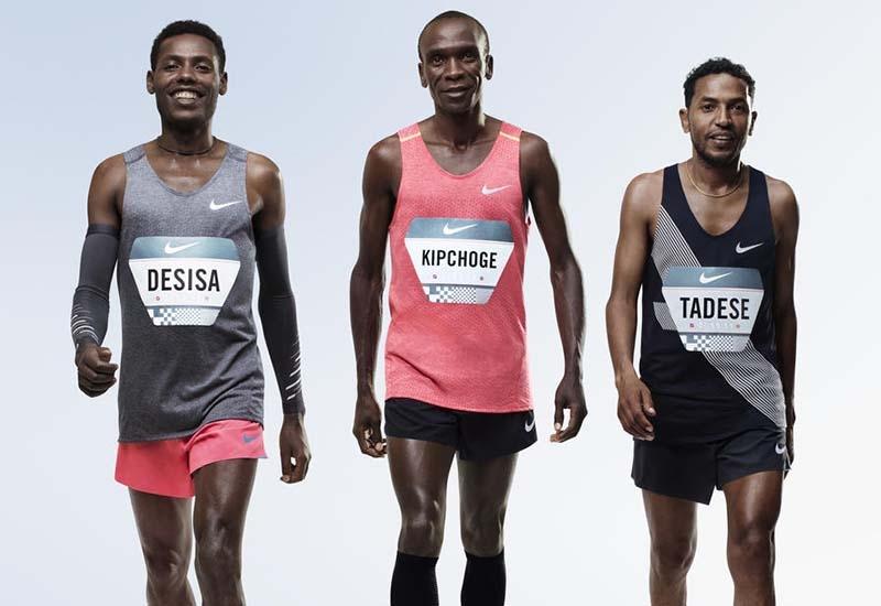 Lelisa Desisa (Etiópia), Eliud Kipchoge (Quênia) e Zersenay Tadese (Eritreia) são as apostas da Nike para cumprir esse desafio!