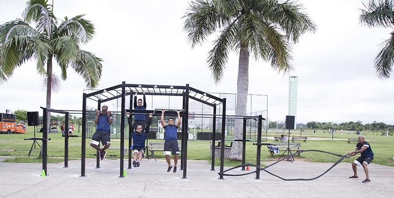 A SPORTSBASE também tem uma estação de ginástica funcional e oferecerá treinos gratuitos nos fins de semana (Divulgação)
